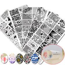7pcs/set Summer Theme Nail Stamping Tool Kit Stamping Plates with Stamper Lot