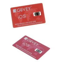 2 Pieces GPP LTE 4G+Unlock Card Nano Sim For iPhone 5 6 7 8 Plus X LTE Red