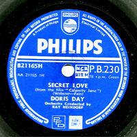 UK No. 1 1954 DORIS DAY 78  SECRET LOVE / THE DEADWOOD STAGE  PHILIPS PB 230 E-
