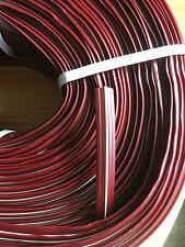 20 m Abdeckprofil Kederschiene Schraubkanal Leistenfüller weinrot elfenbein12mm