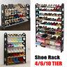 20/50 Pair 4/6/10 Tier Shoe Rack Wall Bench Shelf Organizer Closet Storage Stand
