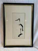 Original Woodblock Art Print Signed and numbered Limited Edition. Stork  a874