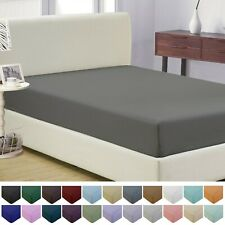 Mellanni Microfiber Fitted Sheet w/ Deep Pockets, Elastic All Around, 20+ Colors