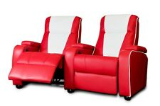 The Original Metro Retro Movie Chair Home Cinema Seating Sofa Red Double Theatre