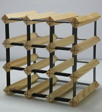 12 Bottle Timber Wine Rack -Genuine BORDERS Product - 1000's SOLD- Free Post