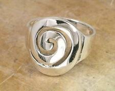 STUNNING .925 STERLING SILVER LARGE CELTIC SWIRL RING size 9  style# r0919