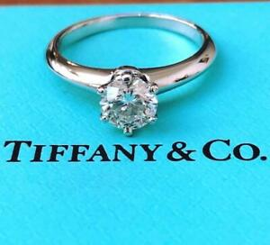 Tiffany & Co. 0.70ct G/VS1 Diamond Solitaire Engagement Ring Cert/Val/Rcpt/Boxes