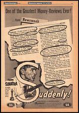SUDDENLY!__Original 1954 Trade AD promo / poster__FRANK SINATRA__STERLING HAYDEN