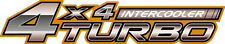 """Toyota 4x4 Turbo Intercooler"" Truck Decal Sticker 2 each"