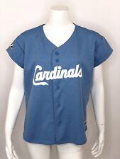 Women's Majestic MLB St. Louis Cardinals Stitched Baseball Jersey Large Blue