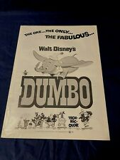 Walt Disney DUMBO Promotional Advertisement