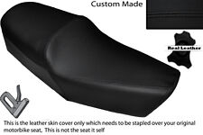 BLACK STITCH CUSTOM FITS HUONIAO HN 125-8 DUAL LEATHER SEAT COVER ONLY