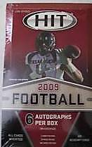 2009 Sage Hit Series1 Football Hobby box 6 Auto per box