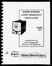 Jackson 655 Audio Frequency Oscillator Operating Manual