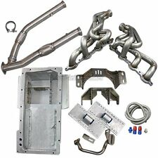 LS1/LSx T56 Mount Kit + Headers Exhaust Mid Y Pipe + Oil Pan For 89-94 240SX S13