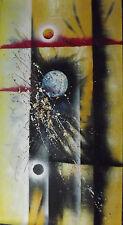 moderno abstract largo grande pintura al óleo lienzo contemporáneo amarillo rojo