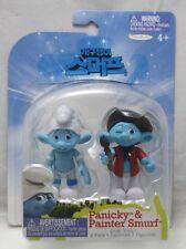 2011 JAKKS Smurfs Figures Packs - Panicky & Painter Smurf (Grab 'Ems, 2-Pack)