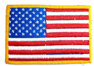 US ARMY FLAG PATCH colour iron / sew on American forces soldier USA jacket badge