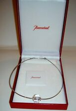 Authentic BACCARAT SHERAZADE Clear Crystal Sterling SIlver Necklace New in box