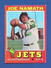 1971 Topps # 250 Joe Namath - HOF - New York Jets - EX - Additional ship free