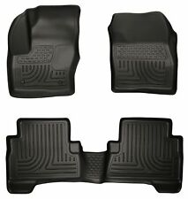 HUSKY BLACK WEATHERBEATER FRONT & 2ND ROW FLOOR LINERS 13-19 FORD ESCAPE & C-MAX