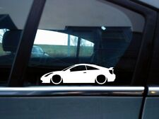x2 Lowered car silhouette stickers for Toyota Celica VVTi, T Sport with spoiler