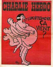 """""""CHARLIE HEBDO N°202 du 30/9/1974"""" WILLEM : ET L'AVORTEMENT CA VIENT ?"""