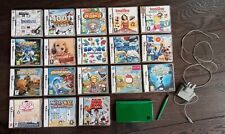 Bundle - Nintendo DS XL - 18 Games - Charger - Green with Extra Stylus