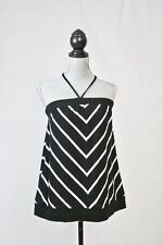 TORRID Womens Black & White Stripe 100% Cotton TUBE TOP Size 4X NWT $28.50