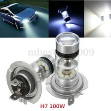 2X H7 LED Fog Tail Driving Light Car Motorcycle 100W Xenon White HeadLights Bulb