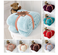 Soft Teddy Bear Sofa Throw Super Cudly Warm Blanket Sofa Size Single and king