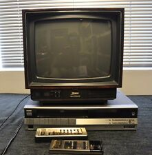 Vintage Zenith Space Command Color TV 13 inch and VCR VR-3010