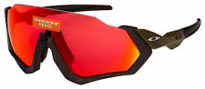 Oakley Flight Jacket Sunglasses OO9401-1737 Matte Steel | Prizm Trail Torch Lens