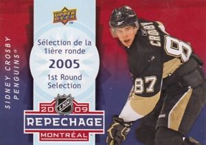 SIDNEY CROSBY NO:D4 2005 1st ROUND sELECTION 2009 REPECHAGE MONTREAL 2009 UD  a