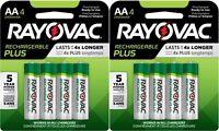 Rayovac Recharge PLUS AA 2400mAh NiMH Batteries 8 Pack