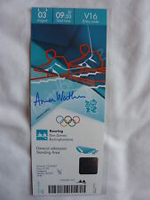Official London 2012 Anna Watkins Signed Rowing Ticket *Ltd Edition 24 of 50*