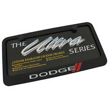 Dodge New Logo Black License Plate Frame