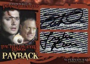 Supernatural Connections Jensen Ackles & Fredric Lehne A11 Dual Auto Card