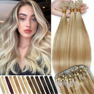 Micro Ring Loop Hair Extensions Micro Ring Beads Link Brazilian Remy Human Hair