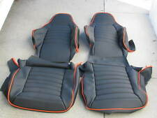 PORSCHE 911 912 76-84 SEAT KIT NEW UPHOLSTERY BLACK KIT GERMAN VINYL CUSTOM