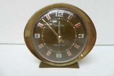 BABY BEN BEDSIDE TABLE CLOCK MADE IN SCOTLAND WIND UP METAL ART DECO