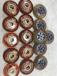 Lot Of roller skate wheels vintage