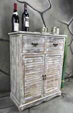 Kommode Schrank mit 2 Schubladen Landhaus Shabby Chic Vintage Weiß LV1006