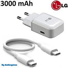 CaricaBatteria Rapido ORIGINALE LG per G5 G6 Travel Fast Charge +Cavo Type C 3.1