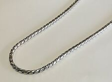 DAVID YURMAN Men's Silver High Polish 4mm Cobra Chain Necklace $1025  Nwt 22""