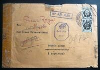 1944 British Army Eritrea Airmail Censored Cover to Buenos Aires Argentina