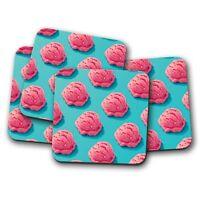 4 Set - Strawberry Ice Cream Coaster - Funky Food Mum Sister Sweet Gift #16601