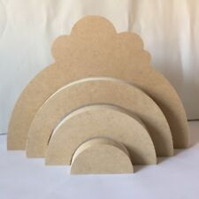 Unpainted May fit well with Grimms Rainbow set Set 11 Semi Circles 6mm MDF