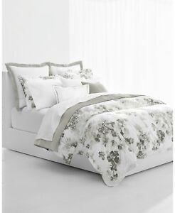 Ralph Lauren Home Flora KING Duvet Cover & Shams Set Grey Floral Cotton $385 New