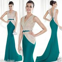 Long Mermaid Prom Party Dress Ball Gown Formal Evening Pageant Wedding Dresses
